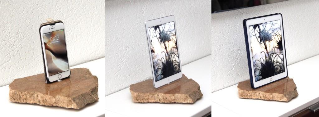 RockDock-119-mit-iPhone-iPads Kunst Dock iPad